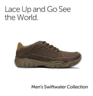 Lace up and go see the world. Men's Swiftwater Collection.