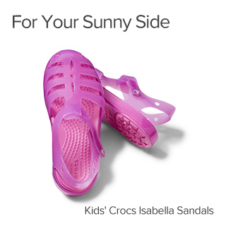 For Your Sunny Side. Kids Crocs Isabella Sandals.