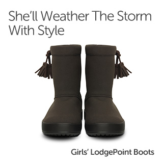 She'll Weather The Storm With Style. Girls' LodgePoint Boots.