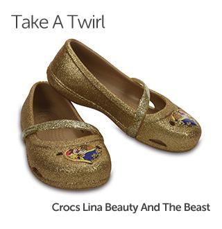 Take A Twirl. Crocs Lina Beauty and the Beast.