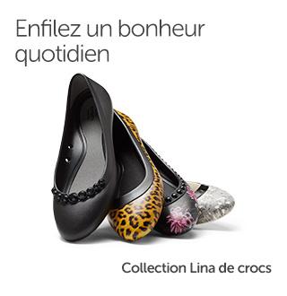 Enfilez un bonheur quotidien. Collection Lina de crocs.