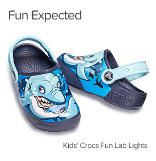 Fun expected. Kids' Crocs Fun Lab Lights.