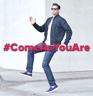 #ComeAsYourAre