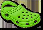 Green Classic Clog Jibbitz.