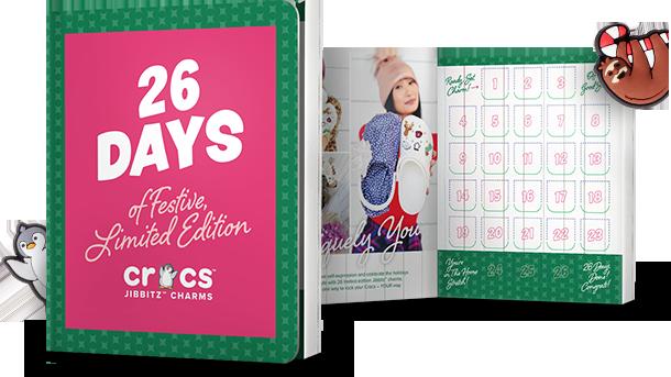 26 Days of Festive, Limited Edition Crocs™ Jibbitz Charms.