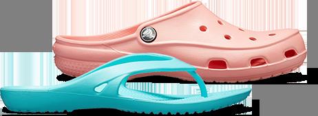 Tongs Kadee II et sabots Crocs Freesail pour femmes