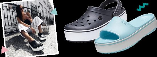 Crocband™ Platform Clog & Crocband™ Platform Slide
