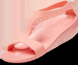 Sandales Serena de Crocs pour femmes, Melon